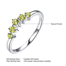 Load image into Gallery viewer, Genuine Natural Peridot Ring Solid 925 Sterling Silver Rings For Women Engagement Wedding Band Gift Fine Jewelry Fashion