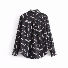 Load image into Gallery viewer, Spring Women Vintage Shirts Long Sleeve Floral Printed Blouse Tops Office Ladies OL Work Wear Casual Blusas