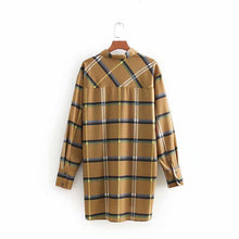 Load image into Gallery viewer, Spring Women Plaid Shirt Long Sleeve Blouses for Girls Tops Streetwear Brand Blusas Oversize Female Shirts