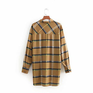 Spring Women Plaid Shirt Long Sleeve Blouses for Girls Tops Streetwear Brand Blusas Oversize Female Shirts