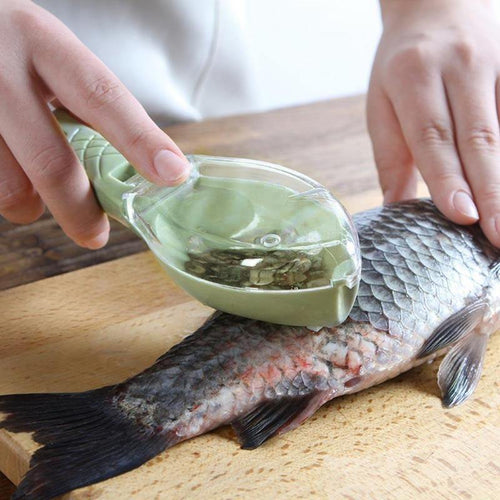 Practical Fish Scale Skin Remover Scaler Skinner Scraper knife Cleaner Kitchen Peeler