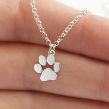Load image into Gallery viewer, Stainless Steel Pet Necklace Dog New Fashion Dog Paw Pendant Necklace for Women Heart Jewelry ECG Doctor Gift