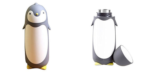 280ML Cute Portable Penguin mug Insulation cup Vacuum Flasks Thermoses Cartoon Thermo Cup Bottle glass bottle water high quality - moonaro