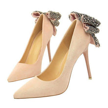 Load image into Gallery viewer, Thin High Heel Pumps Crystal Women High Heels Shallow Butterfly-knot Woman Sexy Party Wedding Ladies Shoes