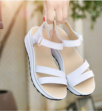 Load image into Gallery viewer, Buckle Strap Style Flat Heel Soft Leather Casual Ankle Strap Woman Beach Sandals