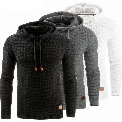 Men Long Sleeve Solid Color Hooded Sweatshirt Men's Hoodie Tracksuit Sweat Coat Casual Sportswear