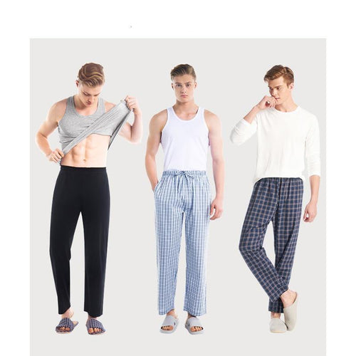 Sleepwear Cotton Casual Pajamas Trousers Solid Bottom Plus Size