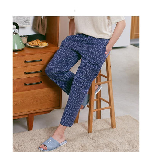 Sleepwear Pants Pajamas for Male Homewear Plus Size Trouser