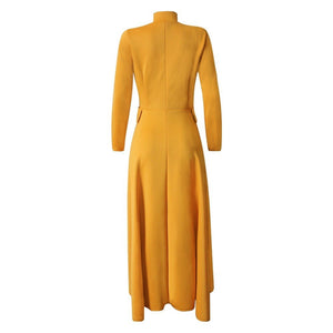 Long Sleeve Zipper Spring Dresses Casual Long Party Robe