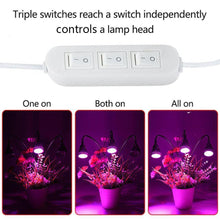 Load image into Gallery viewer, LED Grow Light 15W Plant Lamp 3 Head for Indoor Flower Greenhouse