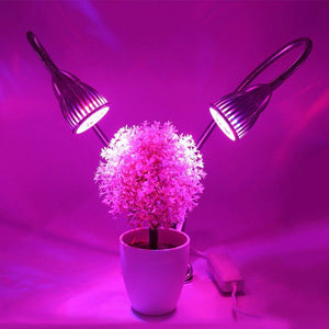LED Grow Light 10W Plant Lamp Dual Head with Double on/off Switch for Houseplant Flower Indoor Seedlings Greenhouse Growing lamp