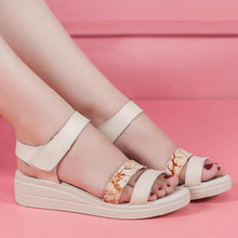 Load image into Gallery viewer, Light shoes Narrow Band Buckle Strap Style Flat Heel Soft Leather Casual Ankle Strap Woman Beach Sandals