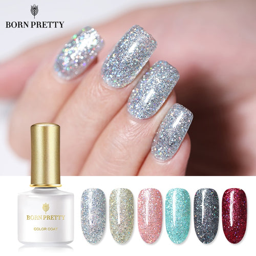 Platinum Nail Gel Polish 6ml Starry Sky Glitter Soak Off UV Gel Lacquer Shinging Bling Sequins Nail Art Varnish