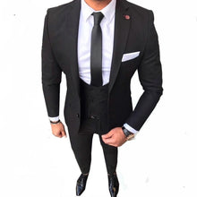Load image into Gallery viewer, Men Custom Made Men's Suits Slim Fit Groom Wedding Tuxedo (jacket+pant+vest)