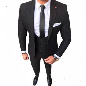 Men Custom Made Men's Suits Slim Fit Groom Wedding Tuxedo (jacket+pant+vest)