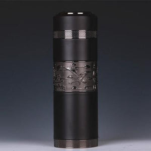 Natural Purple sand Thermos Cup Body Stainless Steel Jingdezhen Travel Car Vacuum Flasks
