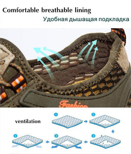Comfortable Casual Slip-on Breathable Air Mesh Flats Sneakers Water Loafers Shoes
