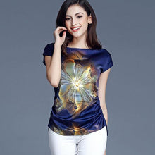 Load image into Gallery viewer, Chiffon Blouses Summer Casual Tops Short Sleeve Fashion Tops Shirts