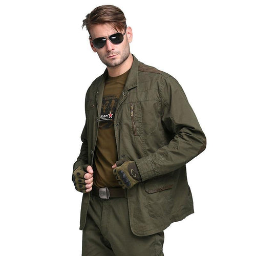 Military Men's Blazers Fashion Army Green 100% Cotton Outwear Plus Size Casual Blazers For Men Coat