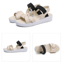 Load image into Gallery viewer, Simple Sandals Flat With Thick Bottom Open Toe Sandals Shoes For Woman