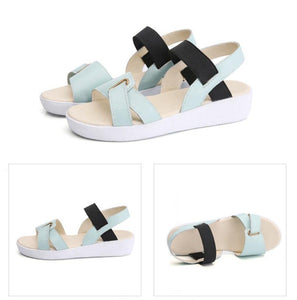 Simple Sandals Flat With Thick Bottom Open Toe Sandals Shoes For Woman