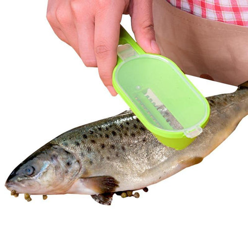 Cleaning Fish Skin Steel Scales Brush Shaver Fast Remover Fish Knife Seafood Tools Peeler