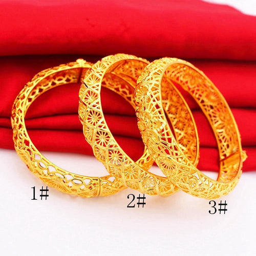 Bangle Yellow Gold Filled Wedding Women's Bracelet