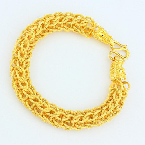 Cool Men's Women's Bracelet Yellow Gold Filled Thick Mesh Chain Bracelet