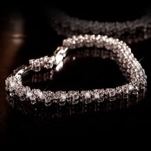 Load image into Gallery viewer, Bridal Bracelet  White Gold Filled Delicate Womens Bracelet Wrist Chain 18cm