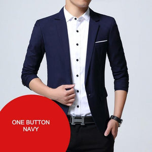 Men's Blazers Jacket Slim Fit Style Casual Blazer Men Jacket Coat Outwear