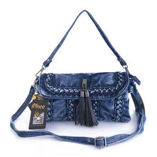 Load image into Gallery viewer, brand new retro women messenger bags small shoulder bag high quality Denim tote bag small clutch handbags