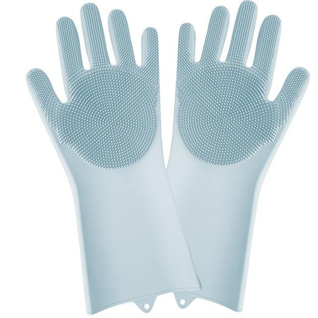 Magic Dish Washing Gloves Kitchen Accessories Tools for Cleaning Dishes Car Pet Brush