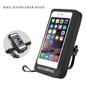 "MTB Road Bike Bag 6"" Waterproof Reflective Motorcycle Bicycle Touchscreen Rearview Mirror"