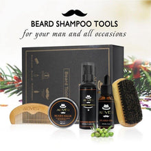 Load image into Gallery viewer, Mens Beard Oil Kits With Scissor,Comb,Brush,Beard Oil,Styling Shaping Mustache Hair Growth Beard Styling Beard Care Set