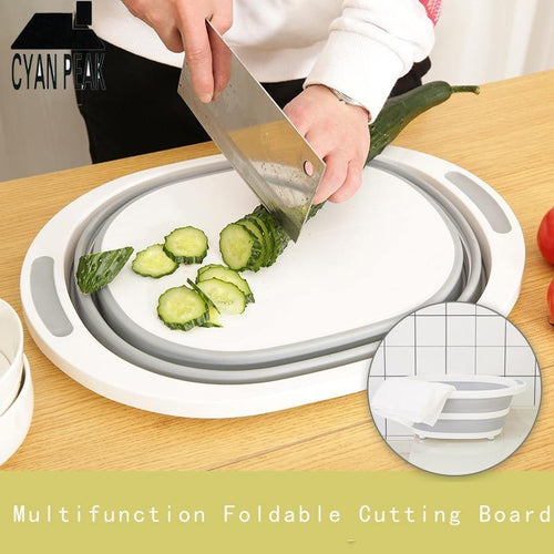 Kitchen Cutting Board Sinks Drain Basket Chopping Board Kitchen Folding Cutting Board