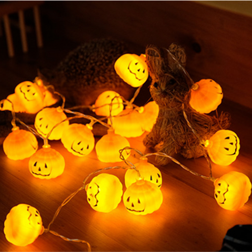 1 Set Pumpkin 10 LED String Lights Halloween Decoration Lights Warm White Halloween Home Decoration Accessorie
