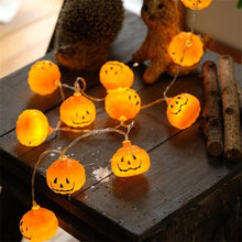 Load image into Gallery viewer, 1 Set Pumpkin 10 LED String Lights Halloween Decoration Lights Warm White Halloween Home Decoration Accessorie