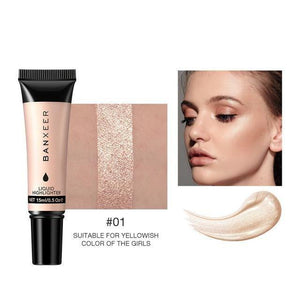 Highlighter Makeup Face Contouring Bronzer Face Shading Liquid Highlighter Waterproof 3 Colors Shimmer Makeup Highlight