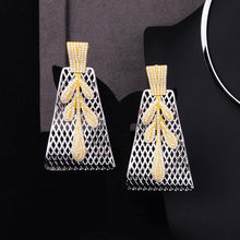 Load image into Gallery viewer, Luxury Party Square 4PCS Jewelry Set For Women Wedding Zircon Bridal Jewelry Set