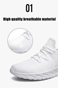 Casual Sneakers Men Flats Mesh Loafers Fly Knit Breathable Summer Sawol Chaussure Homme