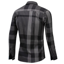 Load image into Gallery viewer, Men's Shirt Summer Fashion Plaid Shirt Men Long Sleeve Casual Slim Fit Shirts 100% Cotton Chemise Homme