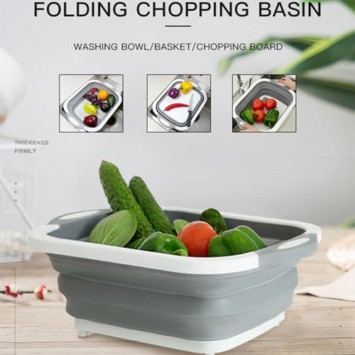 Kitchen Cutting Board Folding Chopping Board Washing Basket Folding Board Kitchen Organizer