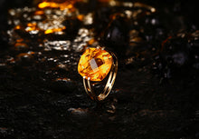 Load image into Gallery viewer, 10KT/417 Yellow Gold 6.41ct Natural Citrine Engagement Ring Jewelry - moonaro