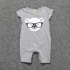 Baby Rompers Summer Style Powered Baby Boy Girl Newborn Infant Rabbit Short Sleeve