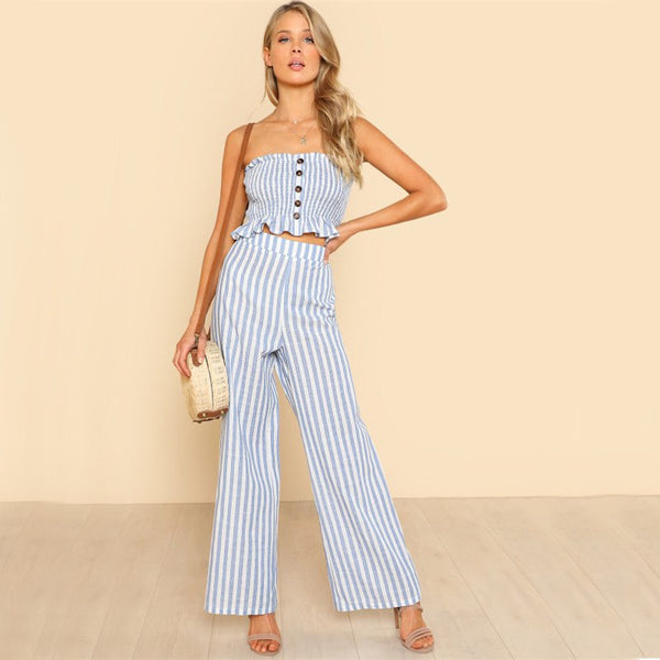 BLUE BECKY JUMPSUIT