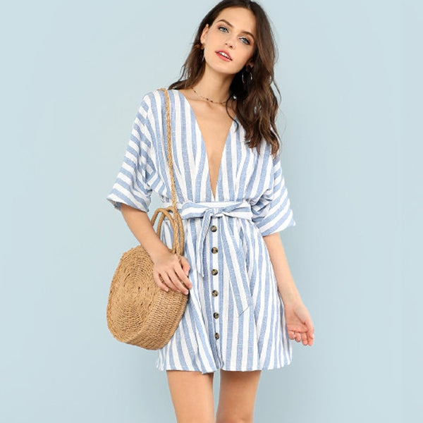 2018 STRIPED SUMMER DRESS