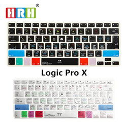HRH Logic Pro X Shortcuts Silicone Keyboard Cover Skin For Macbook