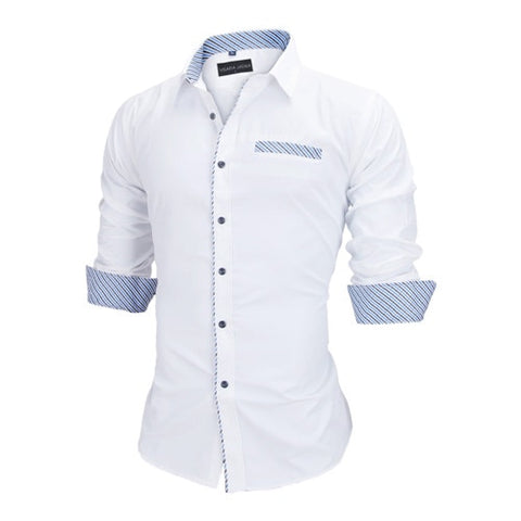 Men Shirts Europe Size New Arrivals Slim Fit Male Shirt