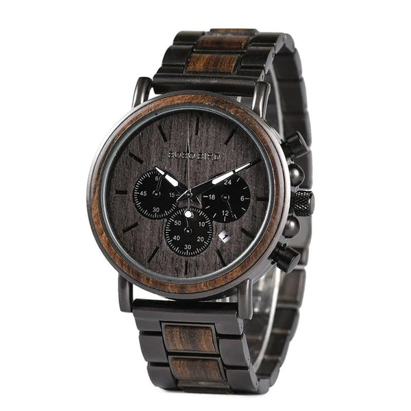Wood Watch Men Stopwatch erkek kol saati Wooden Wristwatches Male Show Date Create Gift  saat erkek relogio masculino