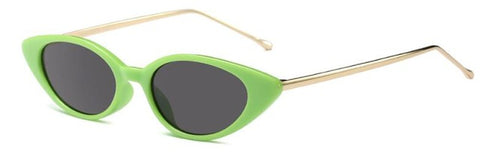 unique cat eye green sunglasses female